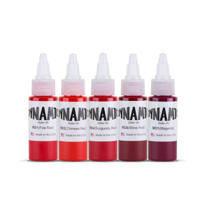 Dynamic Tattoo Ink Lips and Roses 1oz Color Set