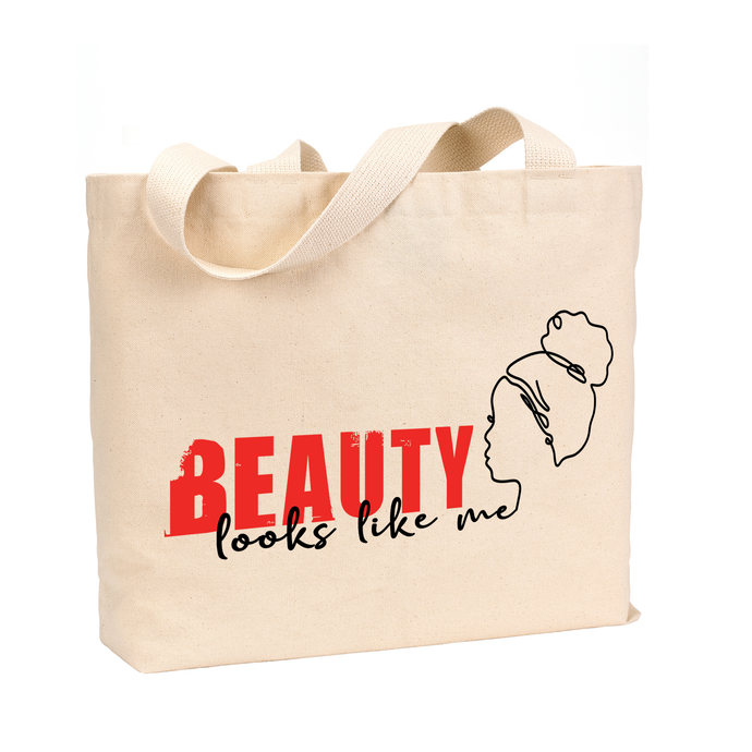 Beauty Looks Like ME - Kid's Medium Reusable Canvas Tote