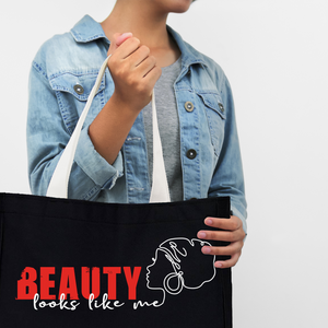 Beauty Looks Like ME - Medium Reusable Canvas Tote