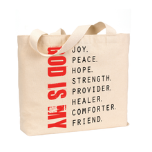 Load image into Gallery viewer, God is My - Medium Reusable Canvas Tote