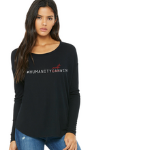Load image into Gallery viewer, #HumanMustWin - Women's Long Sleeve Tee