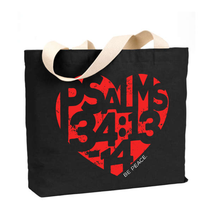 Load image into Gallery viewer, Be Peace. - Medium Reusable Canvas Tote
