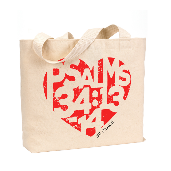 Be Peace. - Medium Reusable Canvas Tote