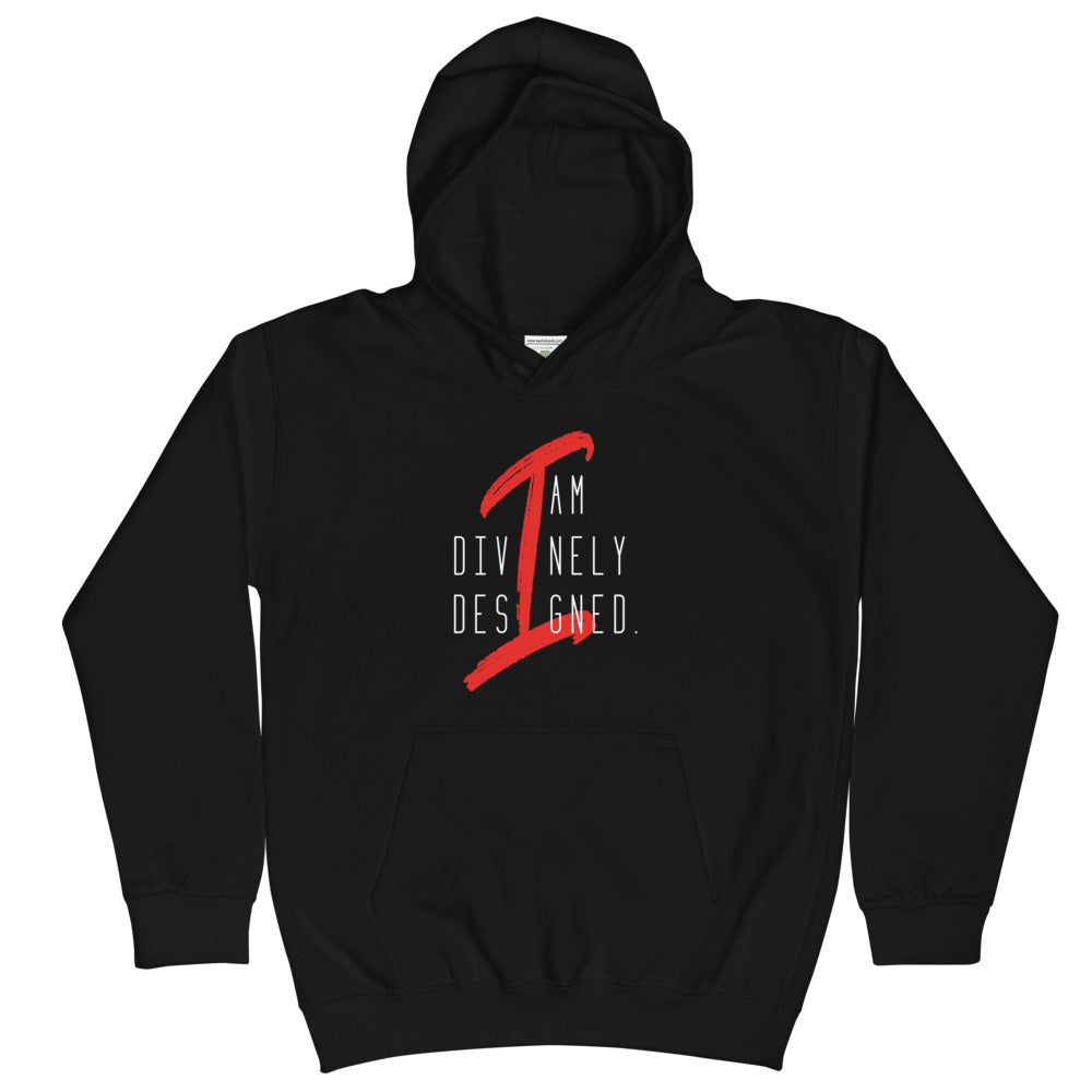 I am Divinely Designed - Kid's Hoodie