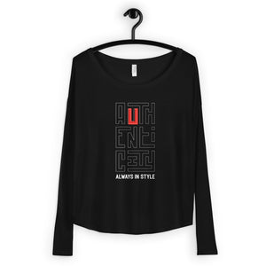 Authenticity Always in Style  - Women's Long Sleeve Tee