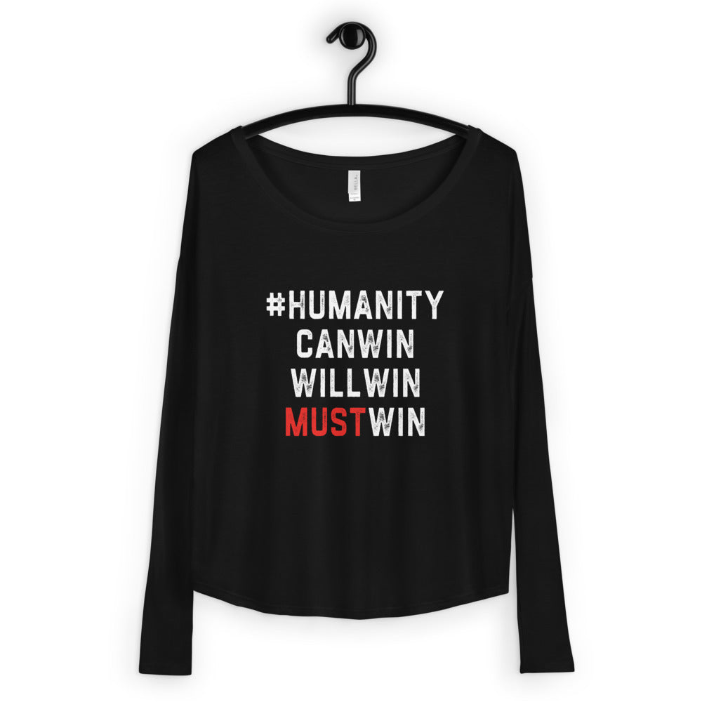 #HumanityMustWin - Women's Long Sleeve Tee