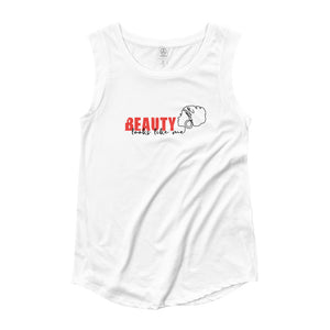 Beauty Looks Like Me - Women's Cap Sleeve Tee