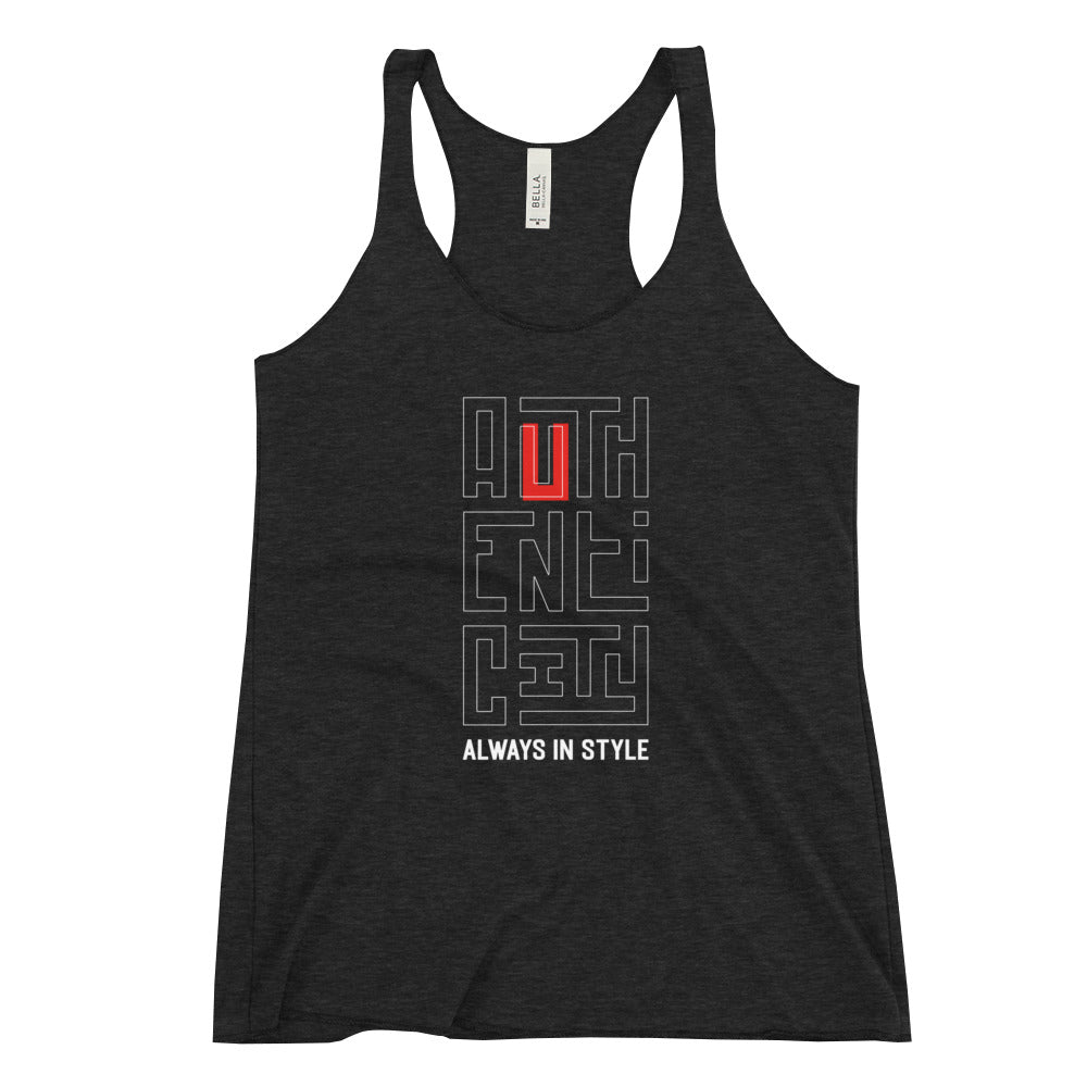 Authenticity Always in Style - Women's Racerback Tank