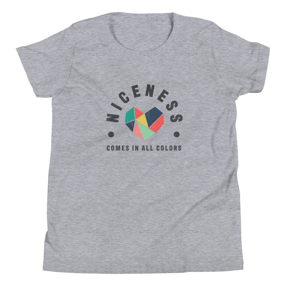 Niceness Comes in All Colors - Kid's Short Sleeve Tee