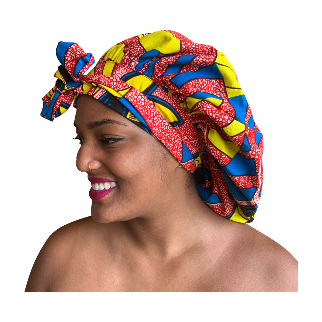 Ashanti, satin-lined bonnet