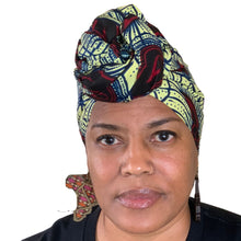 "Load image into Gallery viewer, Afia headwrap 70"" x 22.5"""