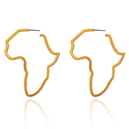Africa Map hoop earrings (gold, silver and rose gold)