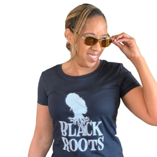 Black Roots tshirt, black