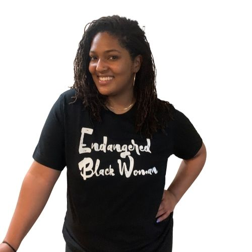 Endangered Black Woman tshirt, black