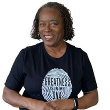 Load image into Gallery viewer, Greatness is in my DNA tshirt, black
