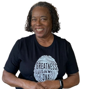 Greatness is in my DNA tshirt, black