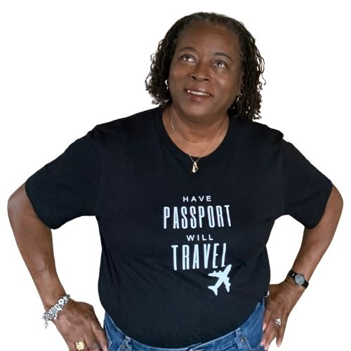 Have Passport Will Travel tshirt, black