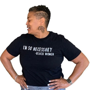 I'm So Necessary tshirt, black