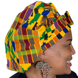 Kente #2, satin-lined bonnet