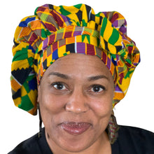 Load image into Gallery viewer, Kente #2, satin-lined bonnet