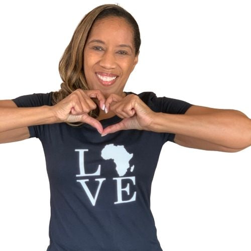 Love Africa tshirt, black