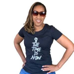 The Time Is Now tshirt, black