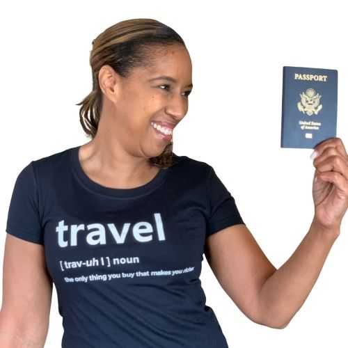 Travel definition tshirt, black