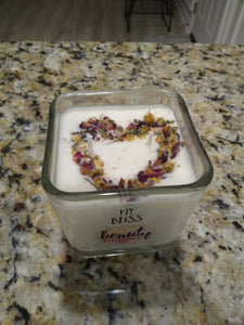 Heart Shaped Chamomile and Rose Candle