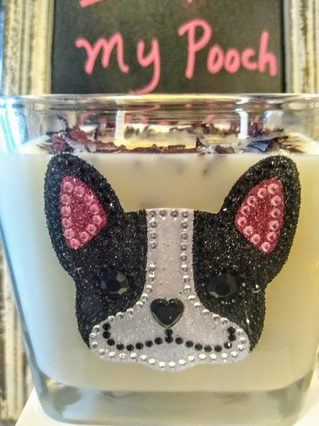 Customized I Love My Pooch Candles