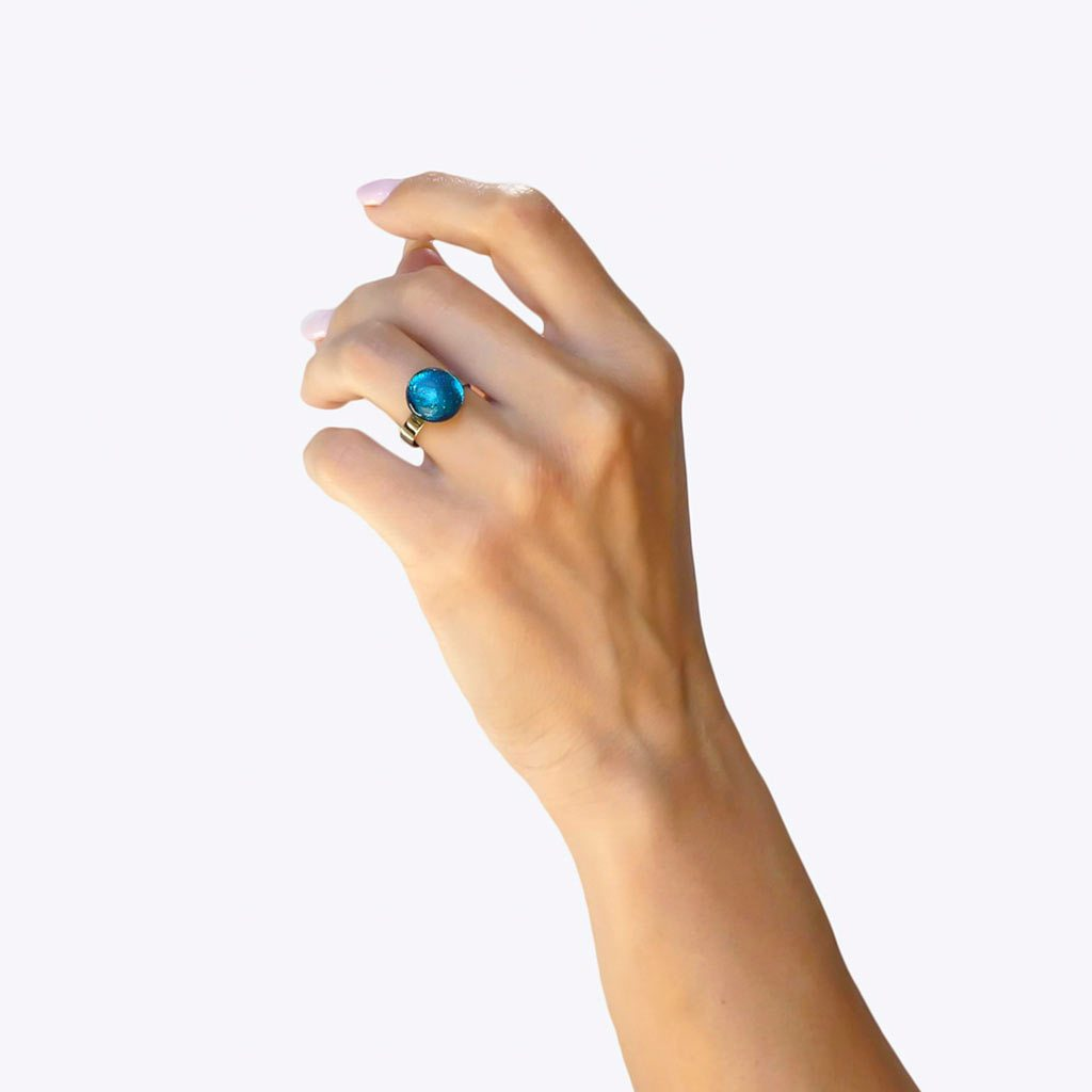 RING TURQUOISE ~ NIGHT BLUE | ECLIPSE | REFLET