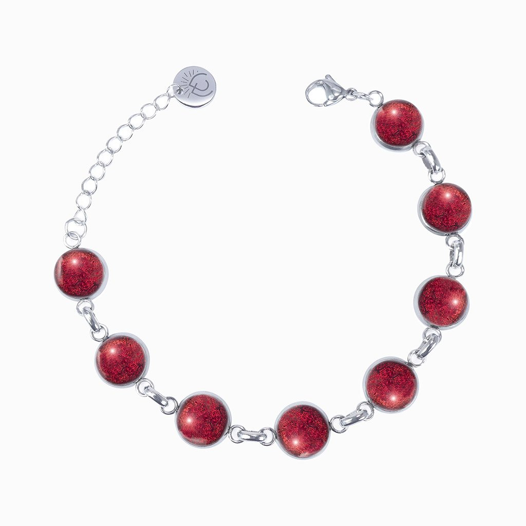 Microcosmoses BRACELET GLASS REFLET BRACELET RED | REFLET | ADJUSTABLE STEEL