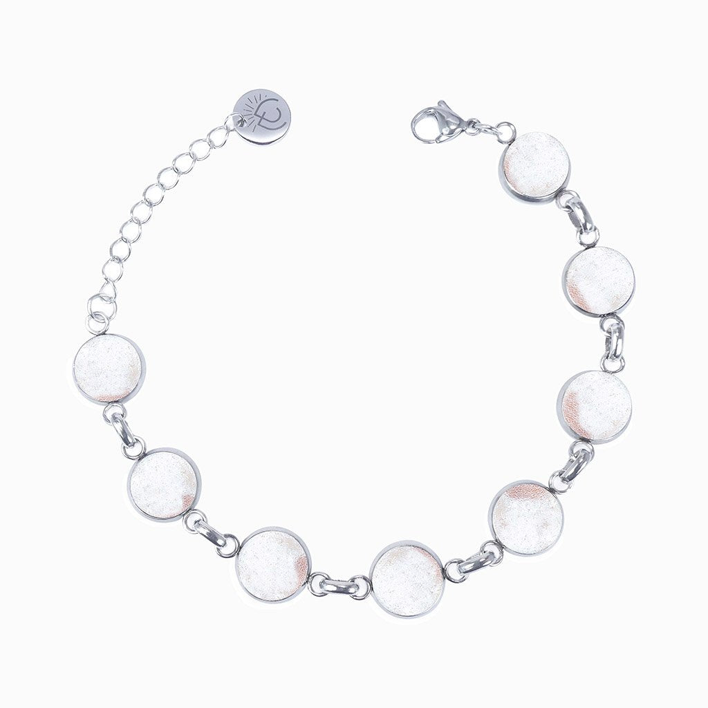 Microcosmoses BRACELET GLASS REFLET BRACELET WHITE RIVER | REFLET | ADJUSTABLE STEEL