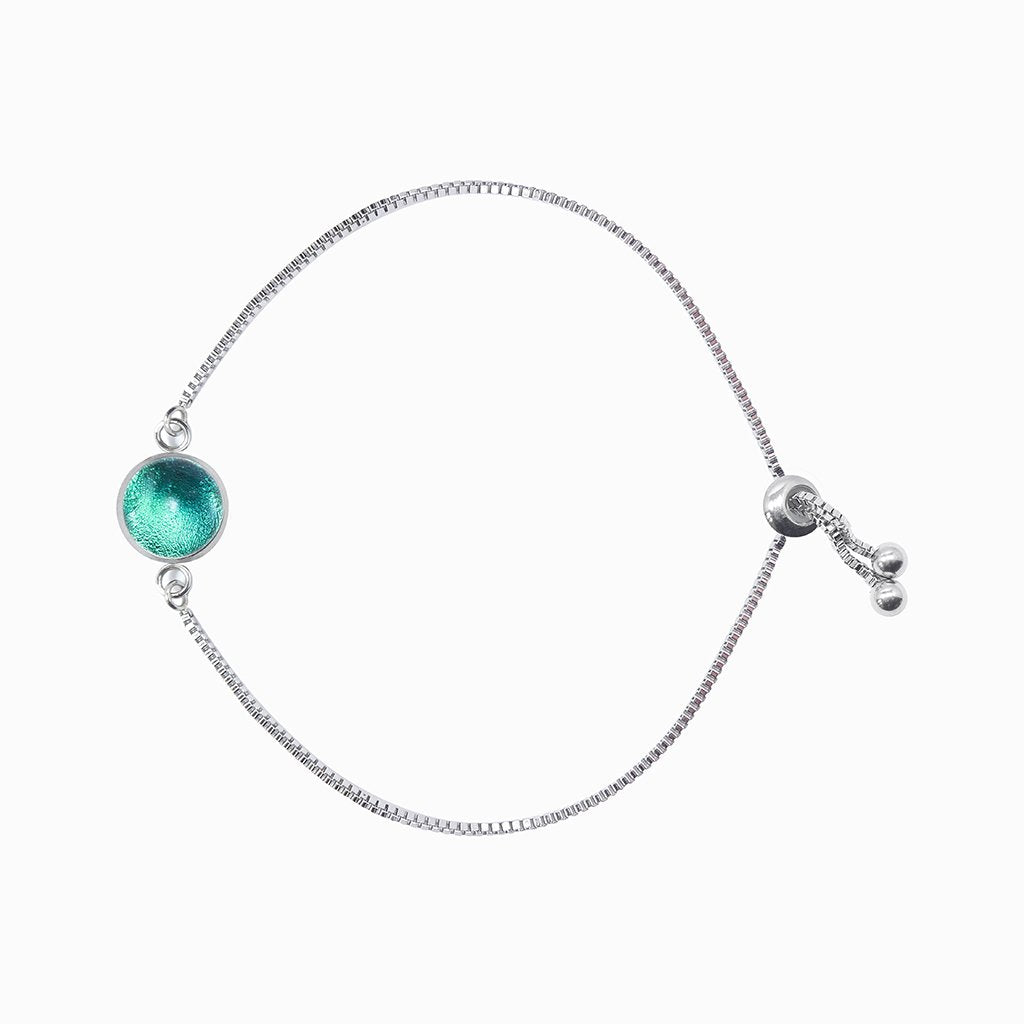 Microcosmoses BRACELET STEEL BRACELET EMERAUDE ~ IRIS BLUE | ST. STEEL | PERFECT FIT | REFLET