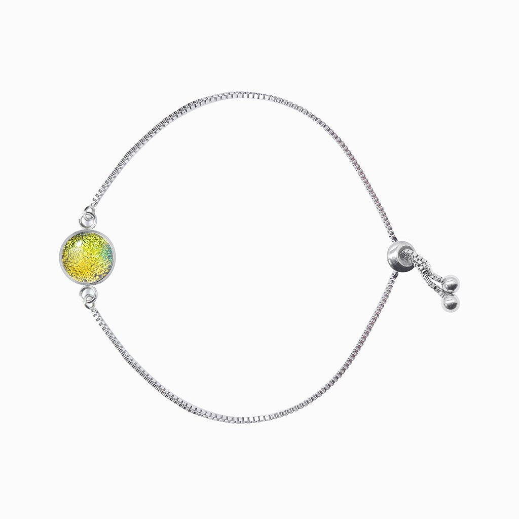 Microcosmoses BRACELET STEEL BRACELET GOLD ~ GREEN BOKEH | ST. STEEL | PERFECT FIT | REFLET