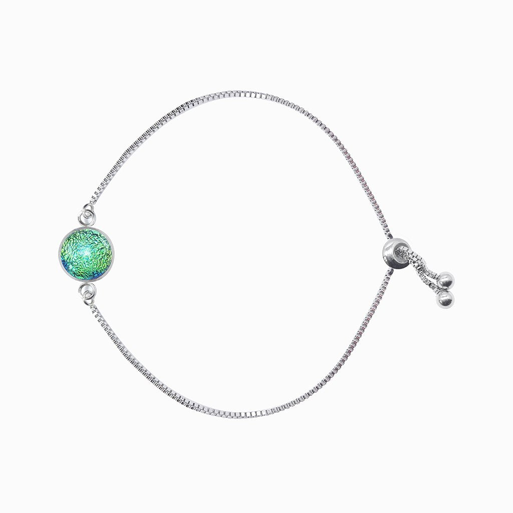 Microcosmoses BRACELET STEEL BRACELET GREEN KELLY ~ BLUE BELIZE | ST. STEEL | PERFECT FIT | REFLET