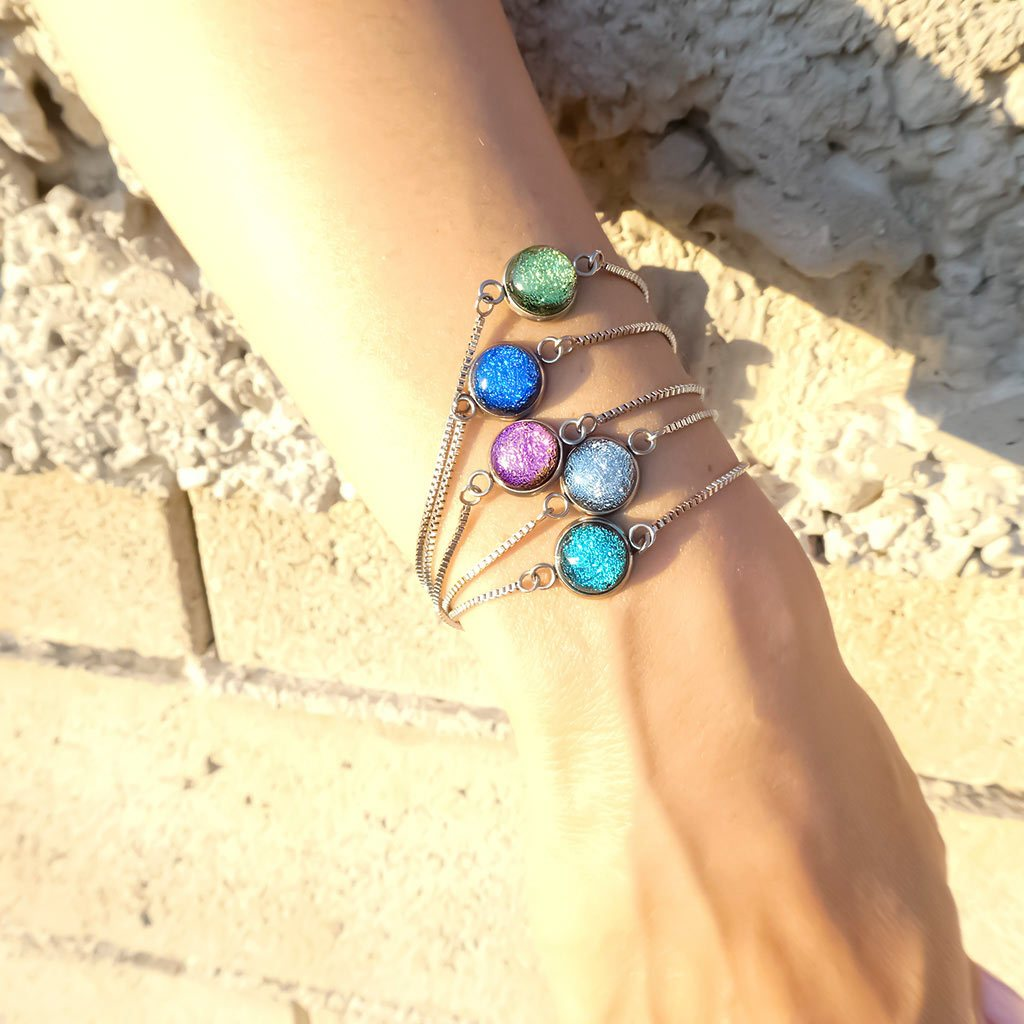Microcosmoses BRACELET STEEL BRACELET INDIGO ~ ETERNAL FUSHIA | ST. STEEL | PERFECT FIT | REFLET
