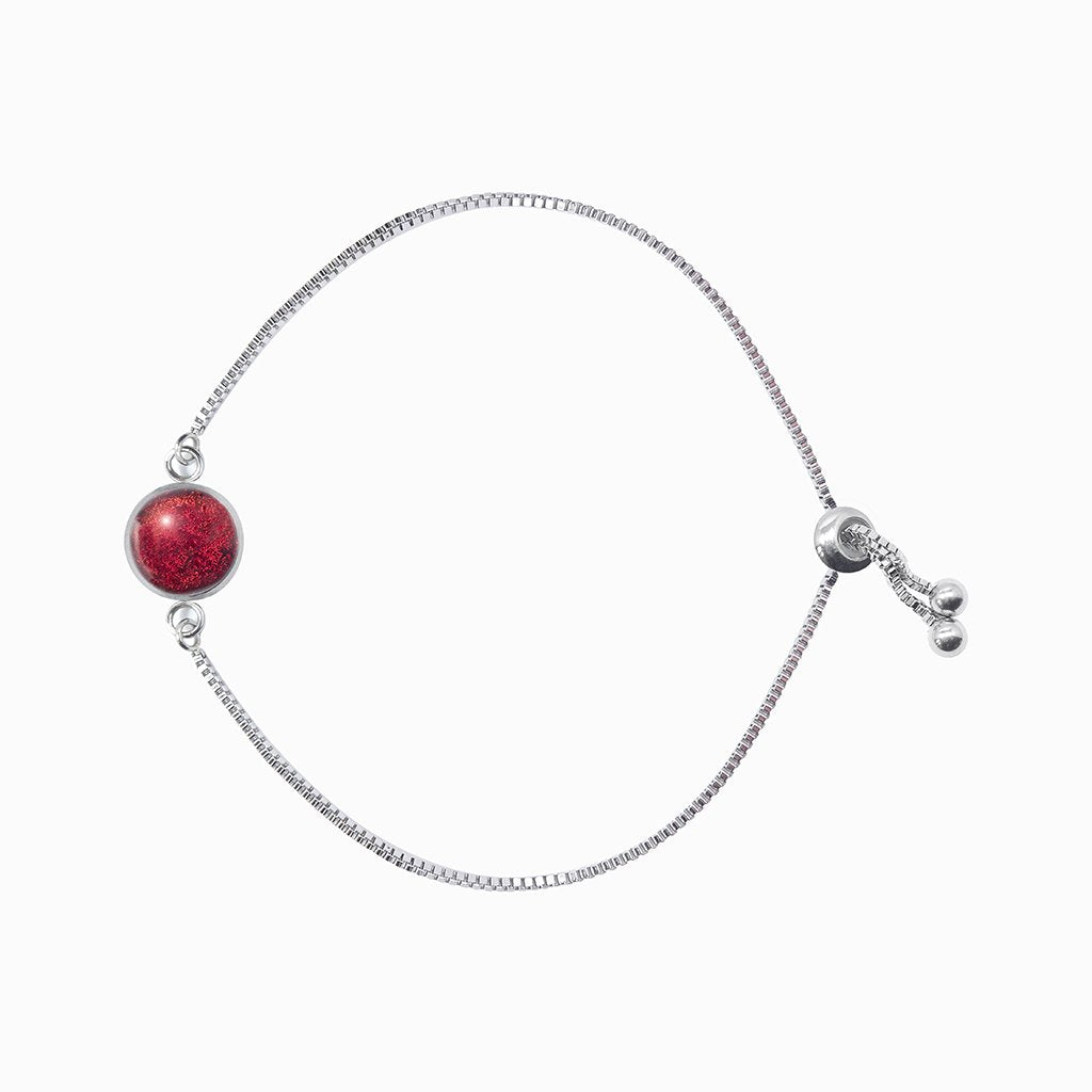 Microcosmoses BRACELET STEEL BRACELET RED | ST. STEEL | PERFECT FIT | REFLET