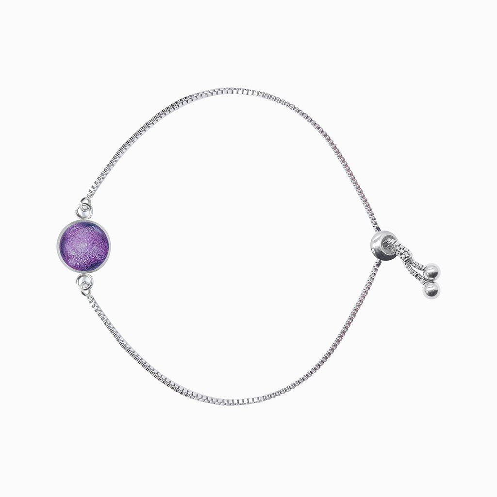 Microcosmoses BRACELET STEEL BRACELET VIOLET ~ EMERALD | ST. STEEL | PERFECT FIT | REFLET