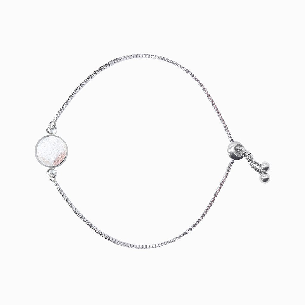 Microcosmoses BRACELET STEEL BRACELET WHITE RIVER | ST. STEEL | PERFECT FIT | REFLET