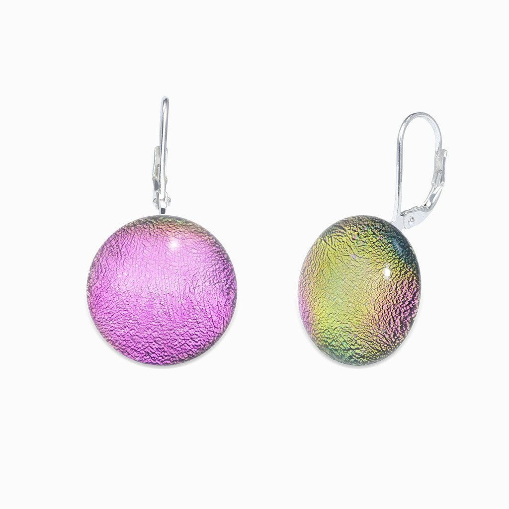 Microcosmoses EARRINGS GLASS REFLET EARRINGS FRENCH PINK ~ GOLD | ECLIPSE | SILVER 925 | REFLET