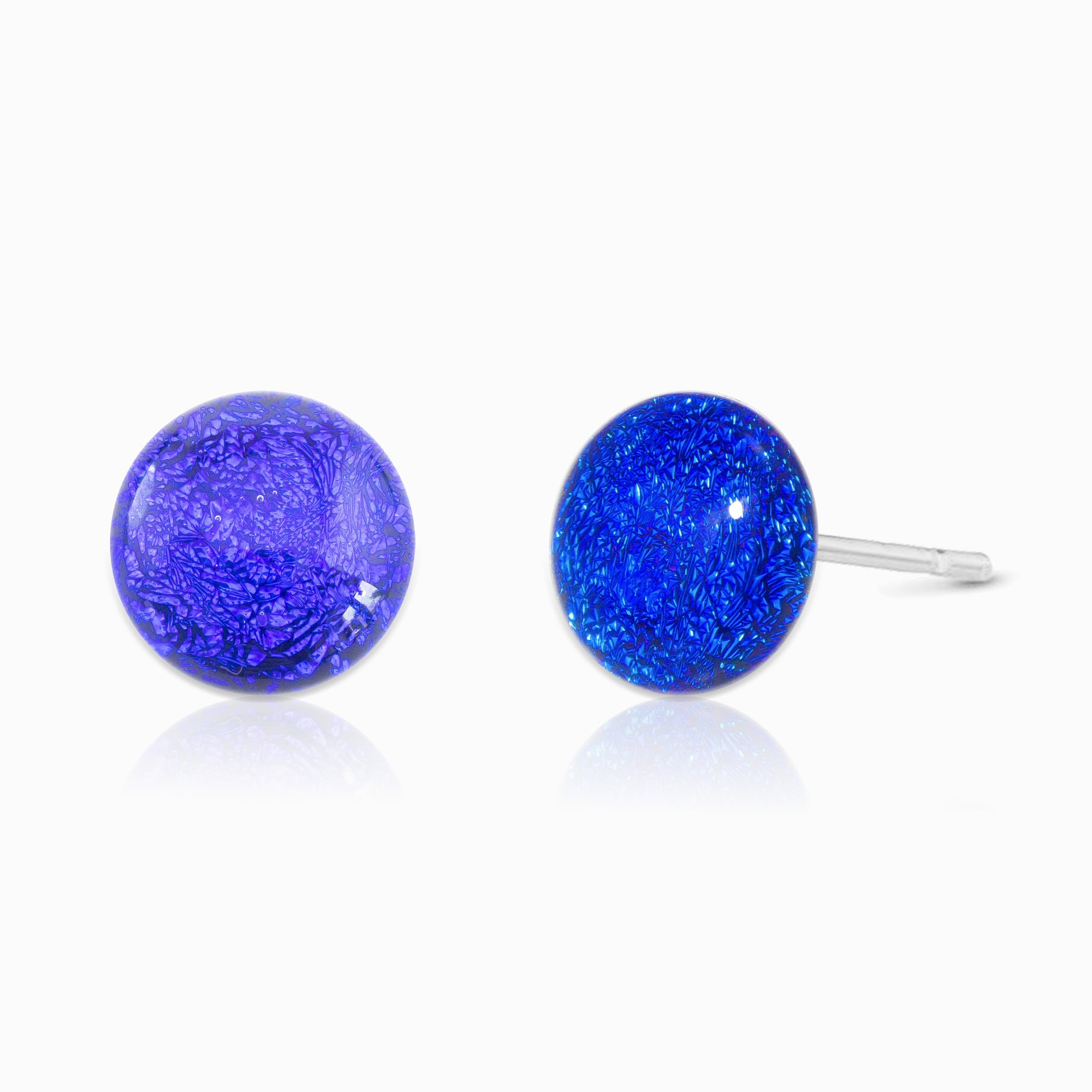 Microcosmoses EARRINGS GLASS REFLET EARRINGS STARRY BLUE ~ INDIGO | ECLIPSE | STUD | REFLET