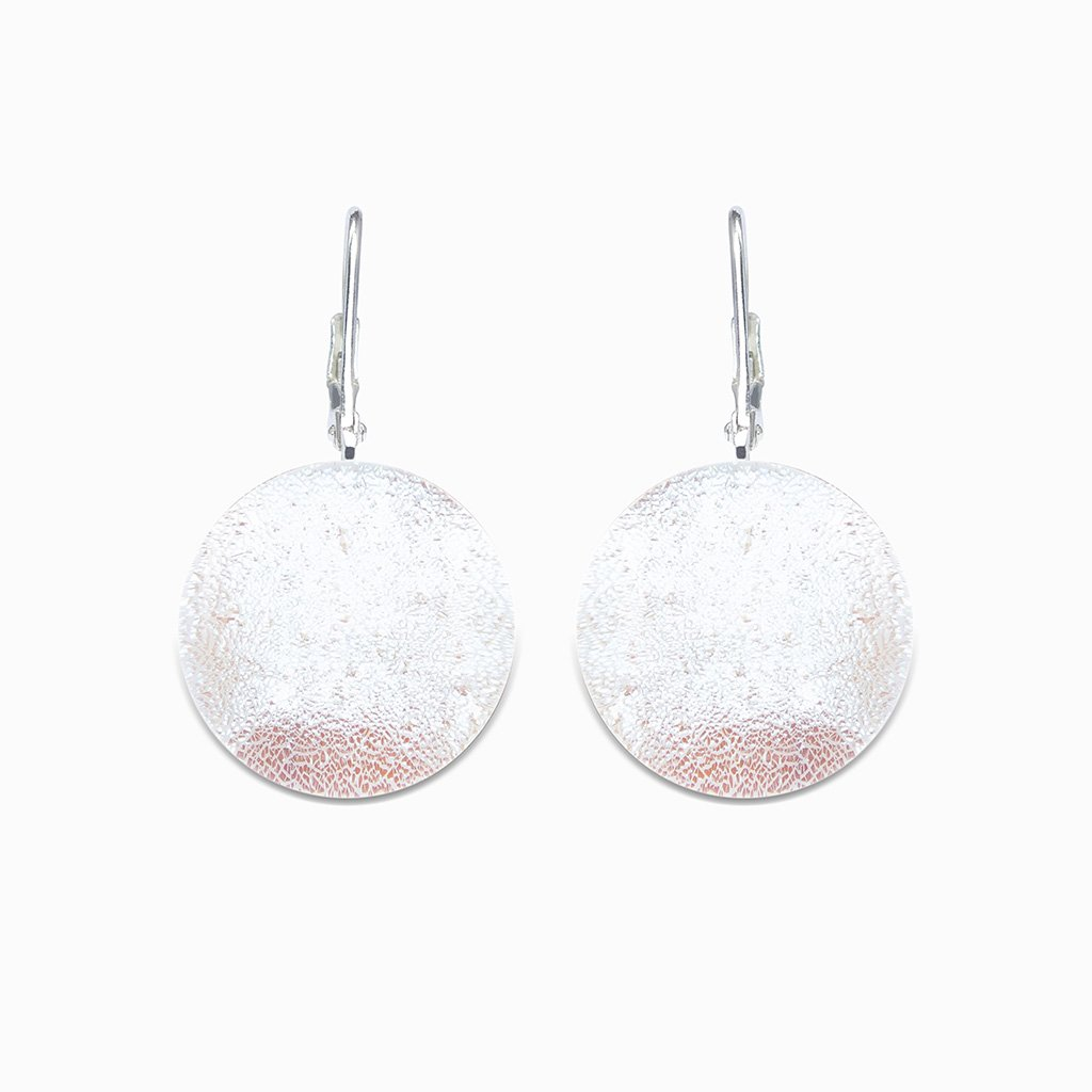 Microcosmoses EARRINGS GLASS REFLET EARRINGS WHITE RIVER | ECLIPSE | SILVER 925 | REFLET