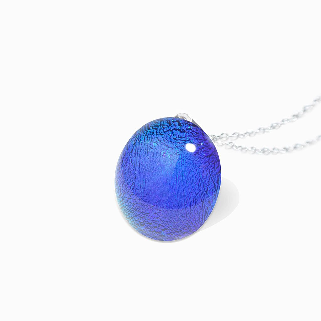Microcosmoses NECKLACE NECKLACE EMERAUDE ~ IRIS BLUE | ECLIPSE | REFLET