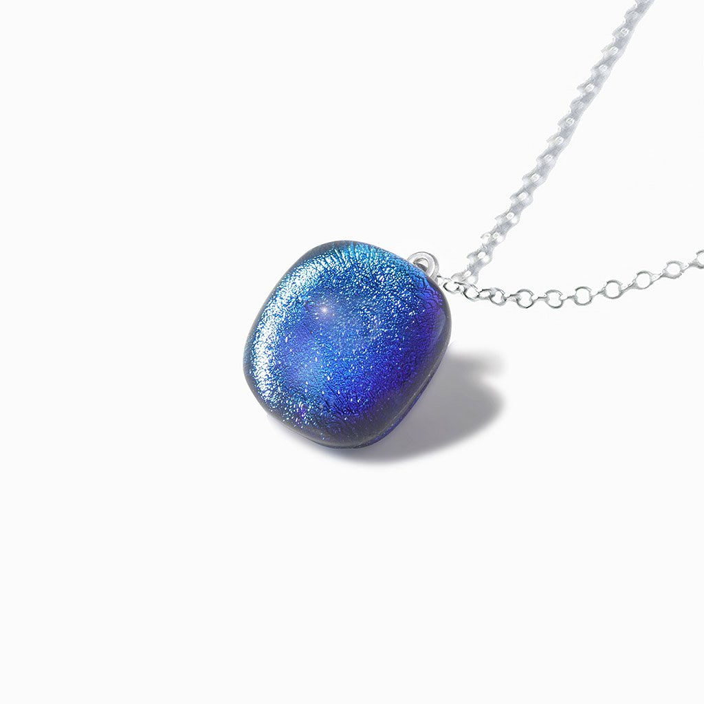 Microcosmoses NECKLACE NECKLACE EMERAUDE ~ IRIS BLUE | SQUIRCLE | REFLET