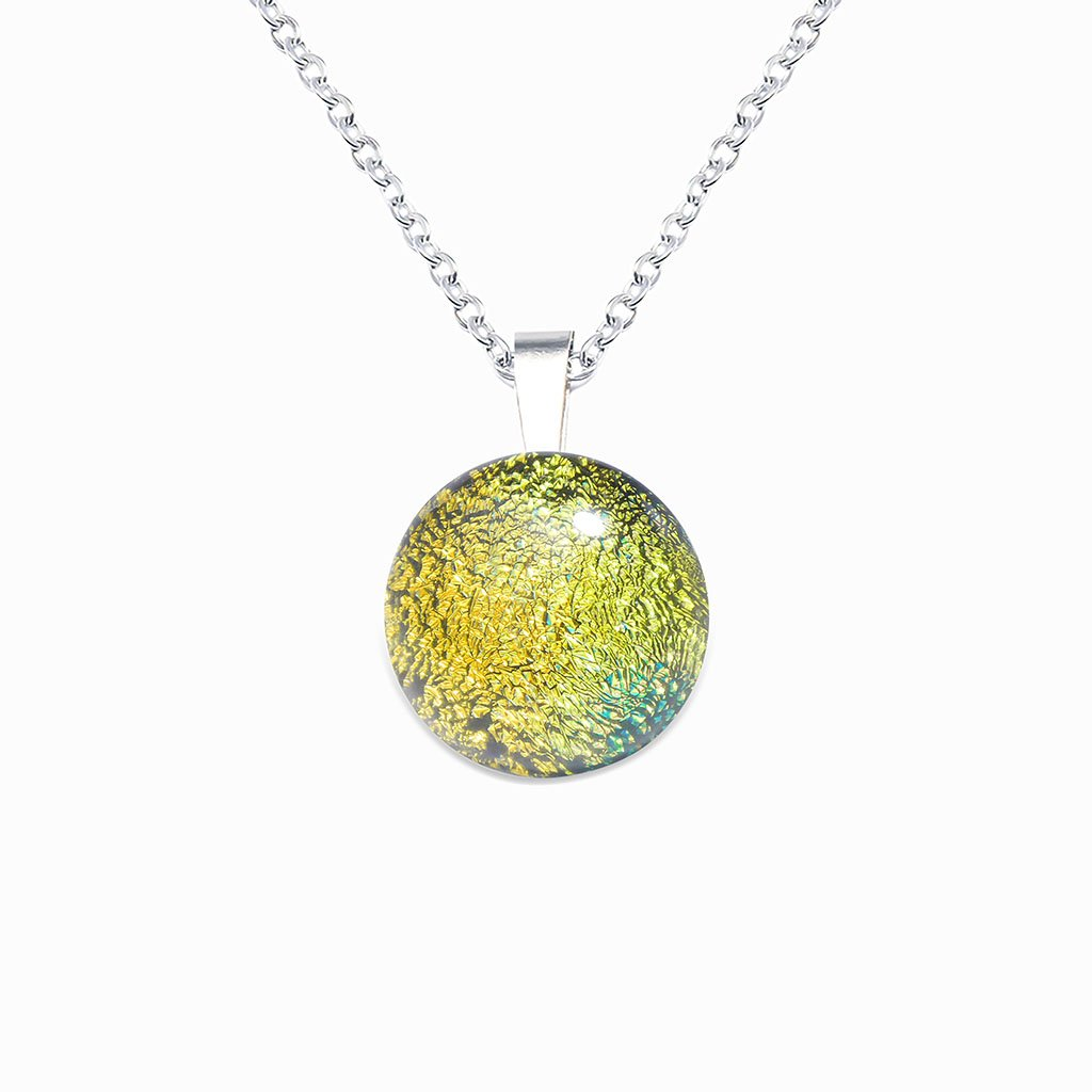 Microcosmoses NECKLACE NECKLACE GOLD ~ GREEN BOKEH | ECLIPSE | REFLET
