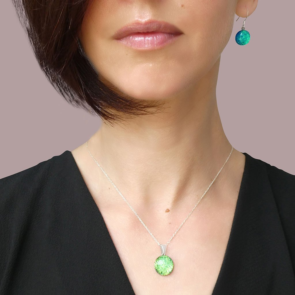 Microcosmoses NECKLACE NECKLACE GREEN KELLY ~ BLUE BELIZE | ECLIPSE | REFLET