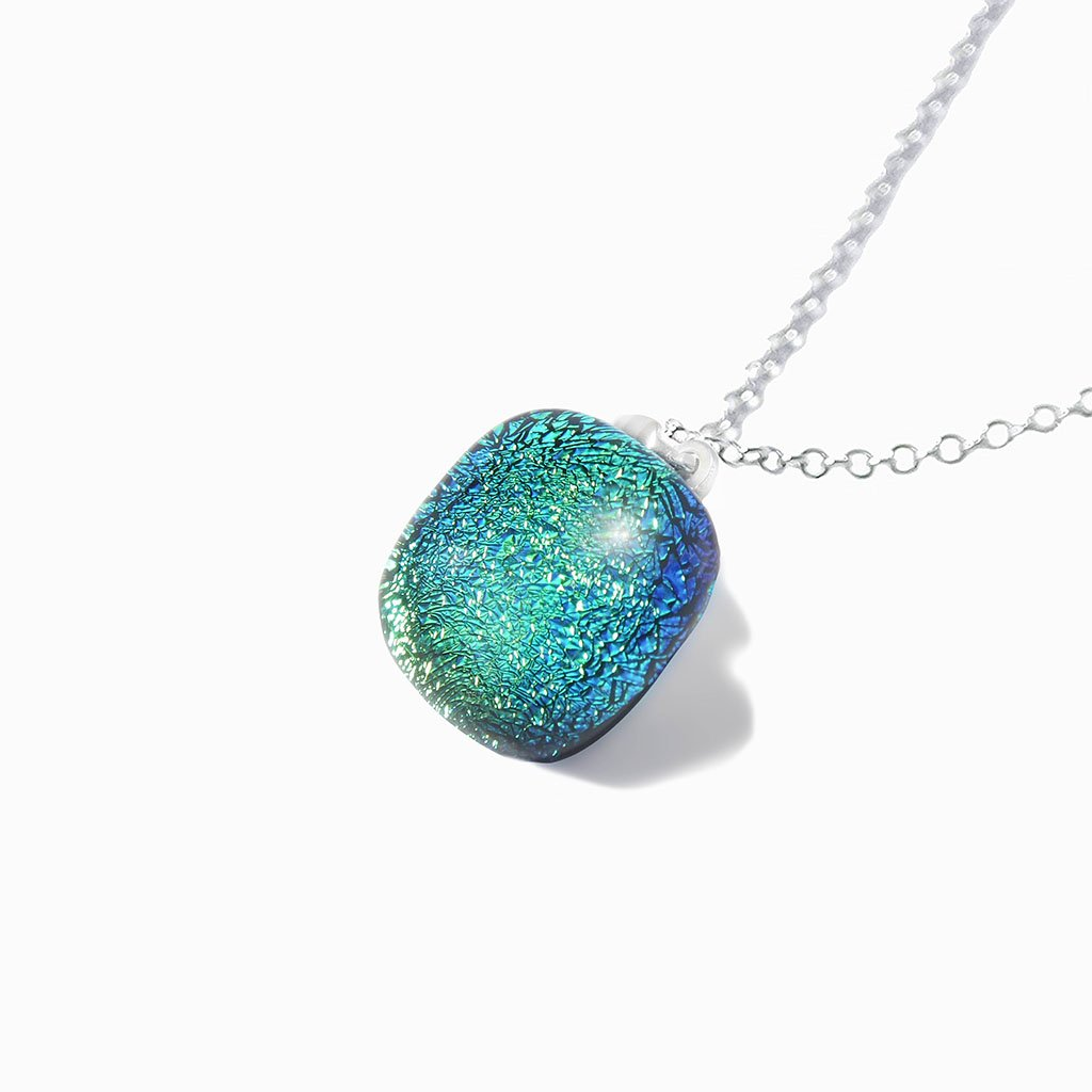 Microcosmoses NECKLACE NECKLACE GREEN KELLY ~ BLUE BELIZE | SQUIRCLE | REFLET