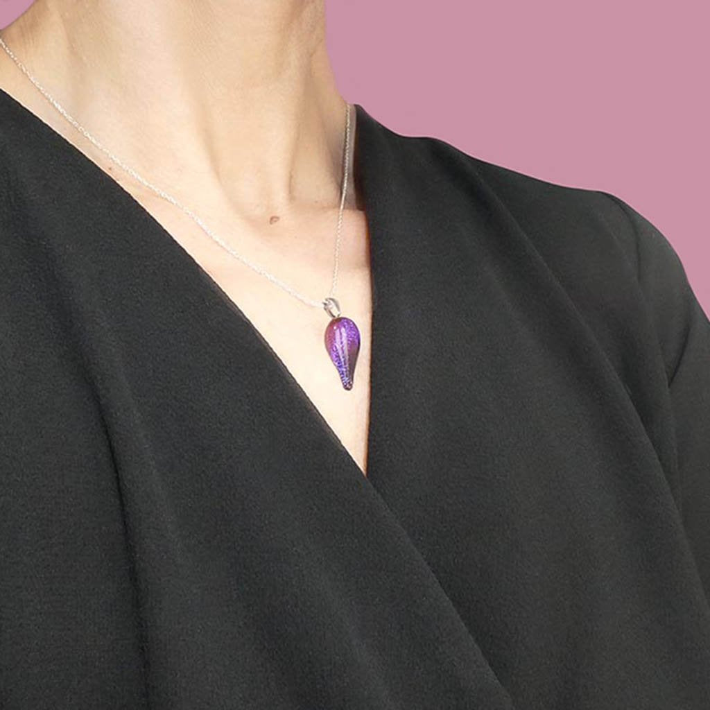 Microcosmoses NECKLACE NECKLACE INDIGO ~ ETERNAL FUSHIA | DROP | REFLET