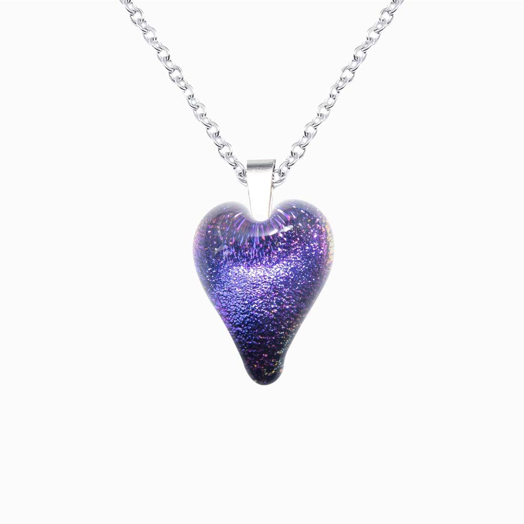 Microcosmoses NECKLACE NECKLACE INDIGO ~ ETERNAL FUSHIA | HEART | REFLET