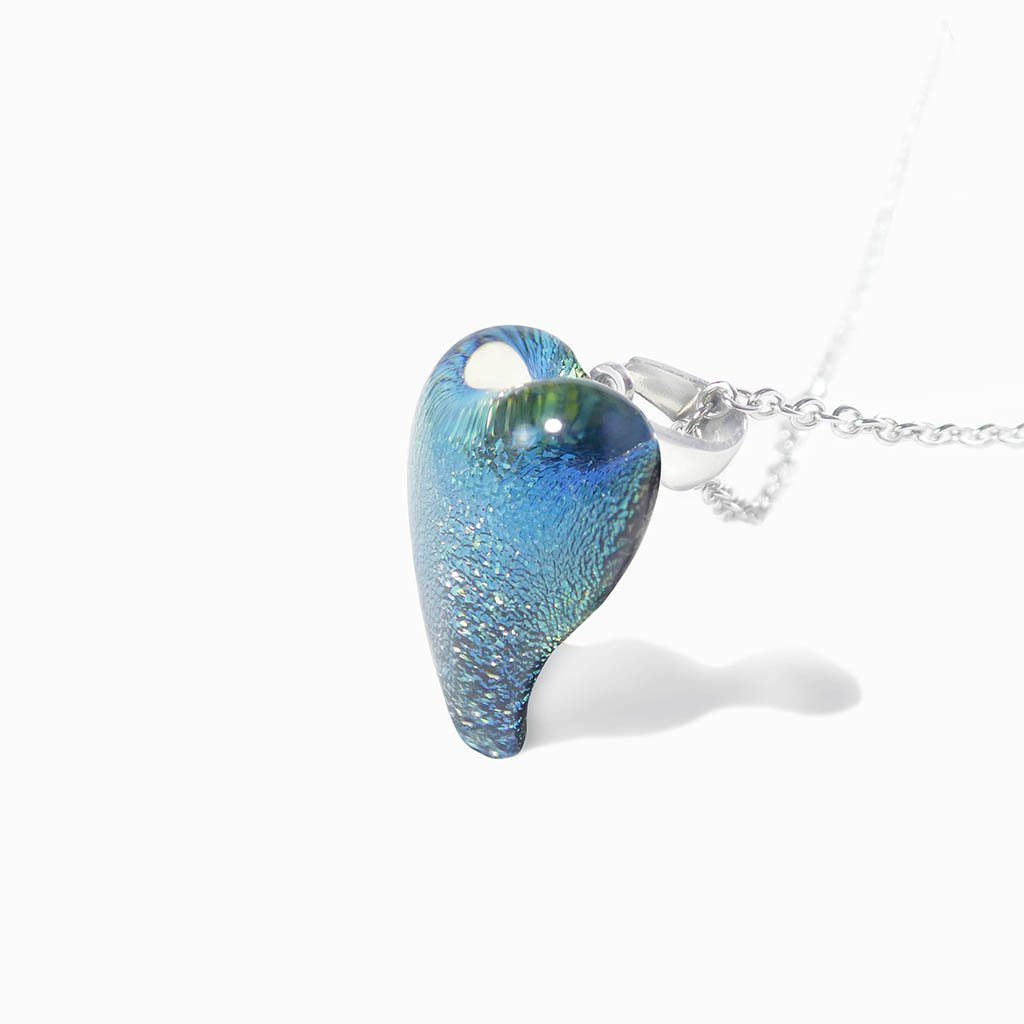 Microcosmoses NECKLACE NECKLACE PARME ~ LIGHT GREEN | HEART | REFLET